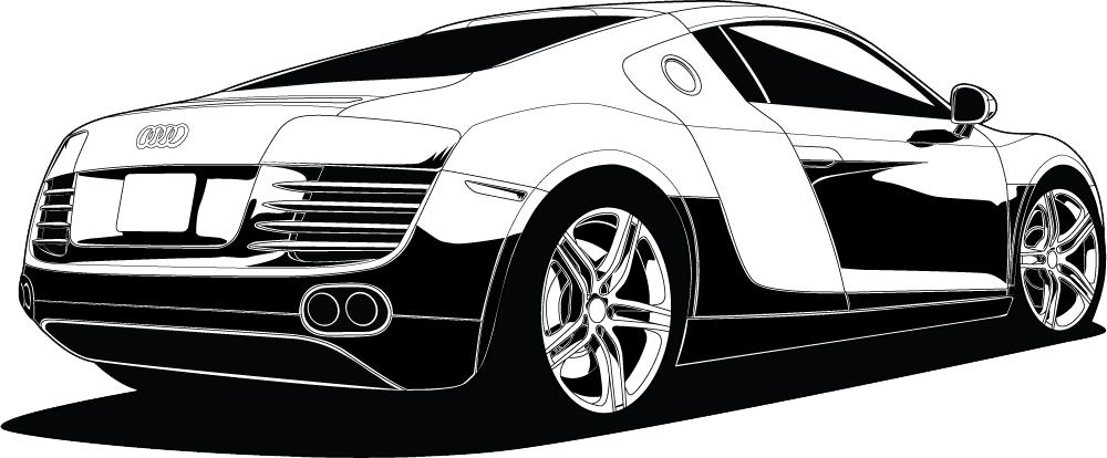 Audi R Vector PSD Official PSDs - Audi car vector