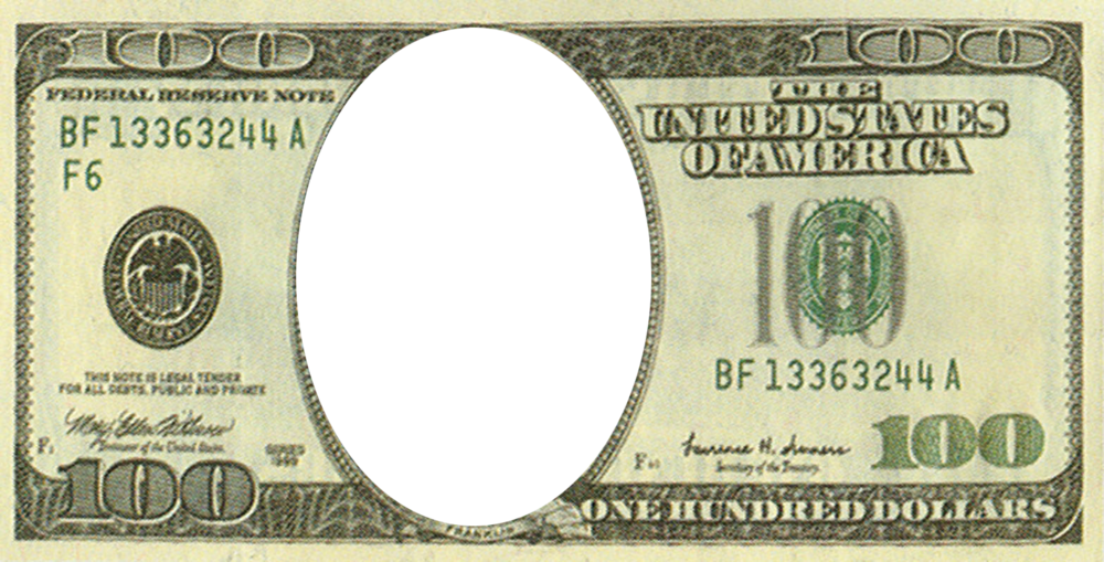 100 dollar bill w face psd official psds share this image pronofoot35fo Choice Image
